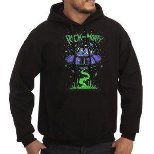 Rick & Morty Spaceship Fleece Hoodie Sweatshirt